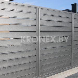 металлический горизонтальный забор юта
