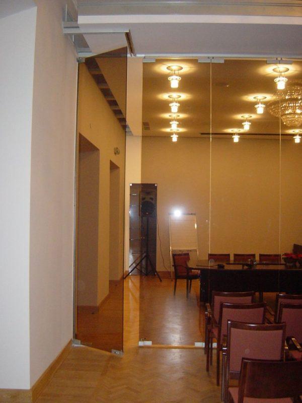 стеклянные межкомнатные двери для зала
