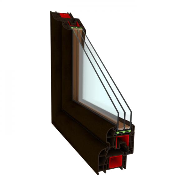 окно пвх OptiTherm 6-камерное