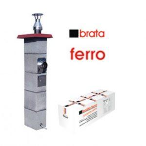 металлический дымоход brata ferro в минске