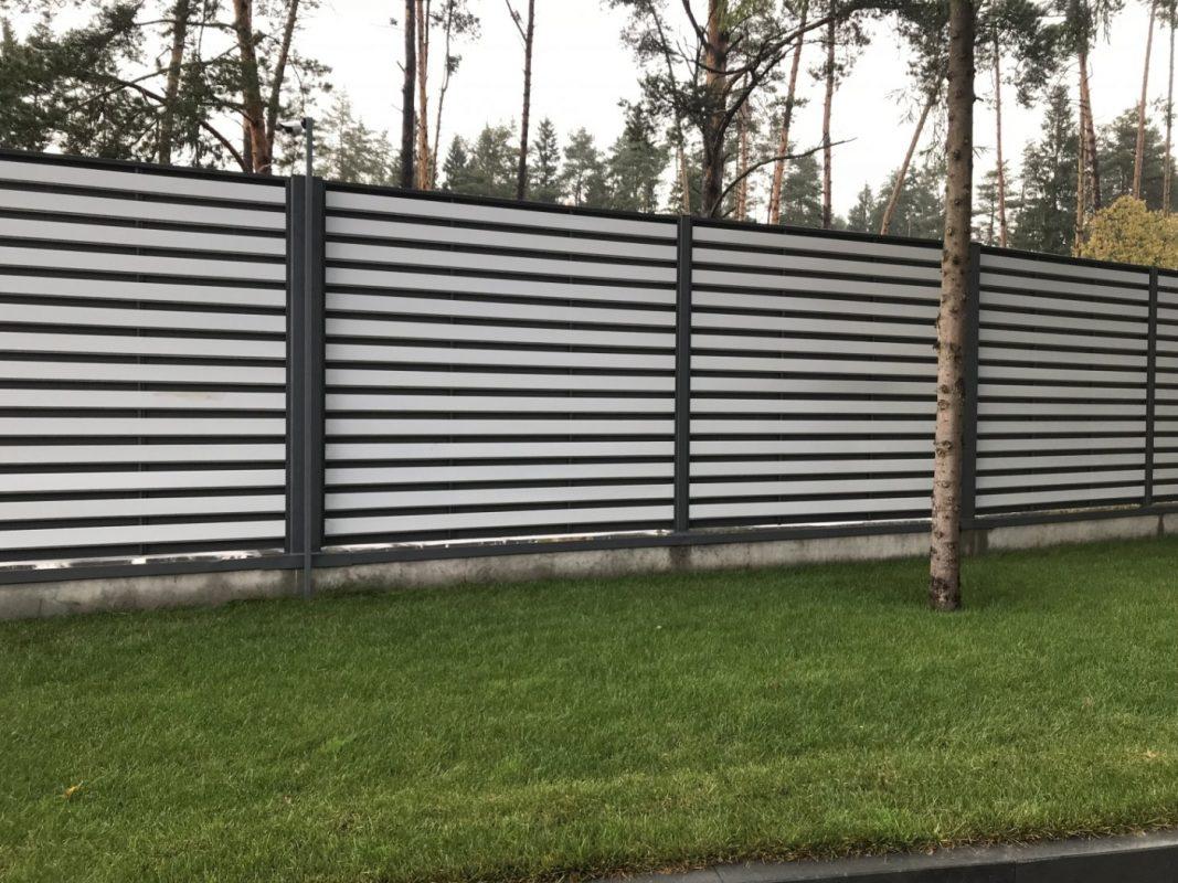 металлический забор шахматка техас