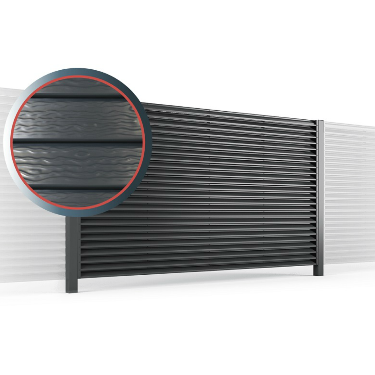 забор жалюзи омега металлический