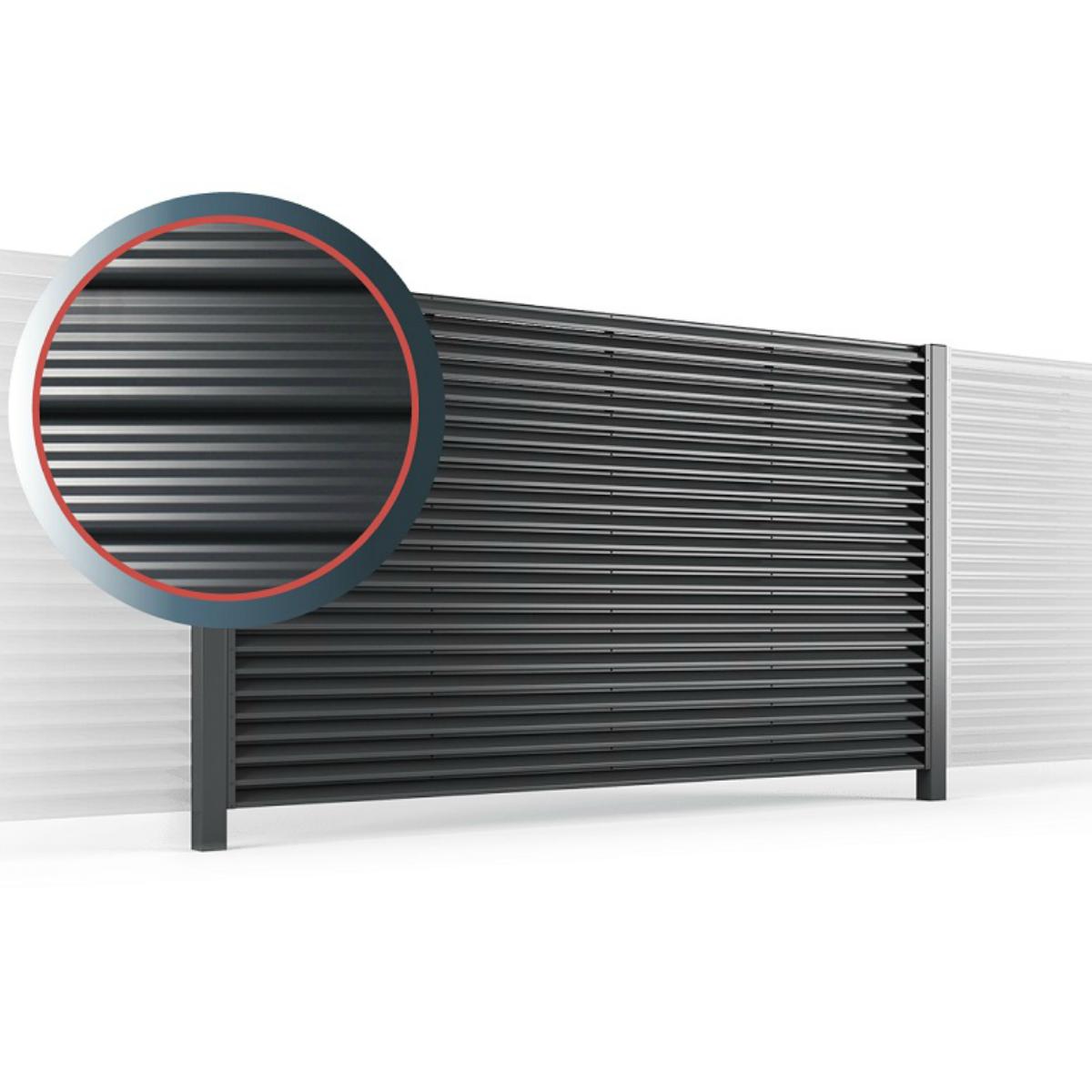 забор жалюзи сигма металлический