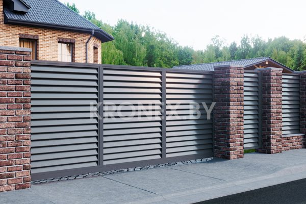 забор жалюзи ворота