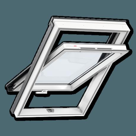 мансардное окно velux оптима белый пластик