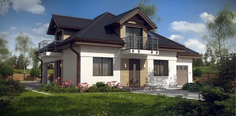 дом с модульной металлочерепицей