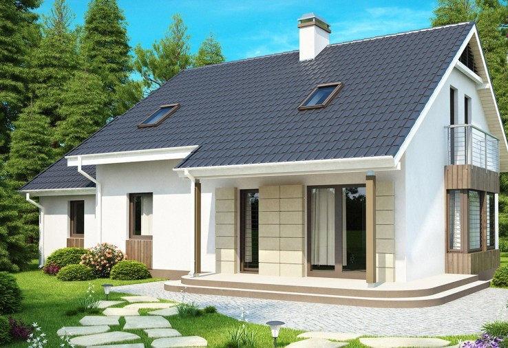 дом с листовой металлочерепицей