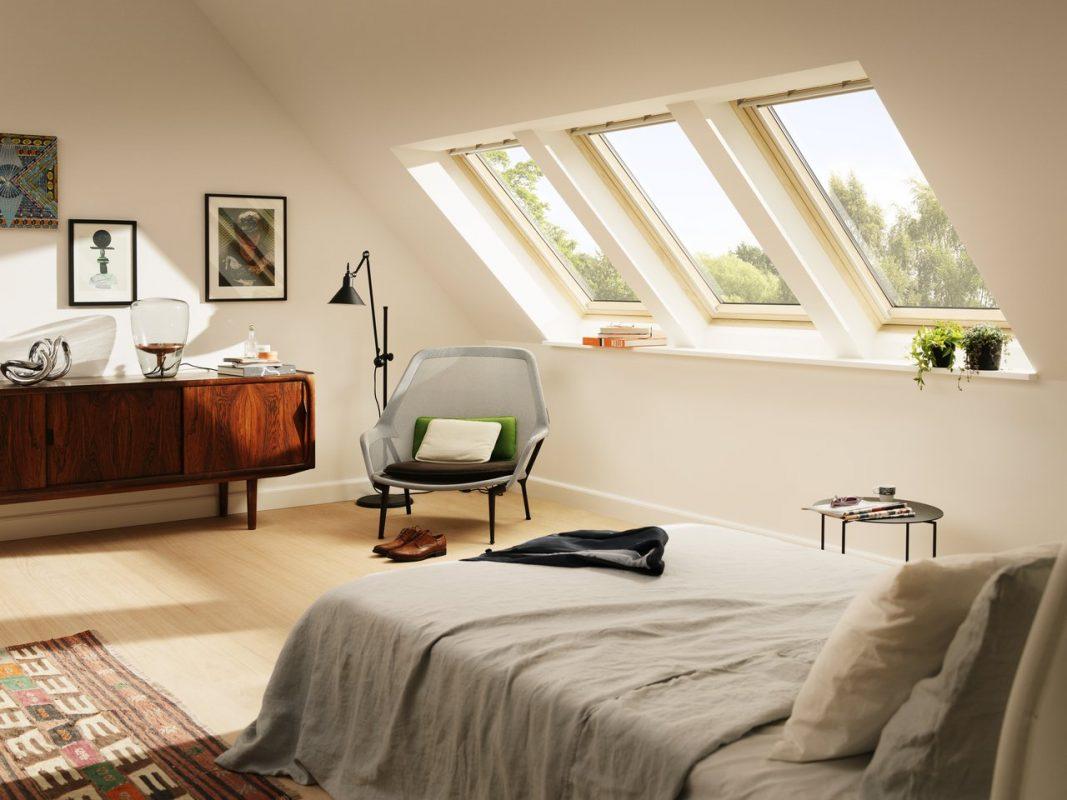 мансардные окна велюкс в доме