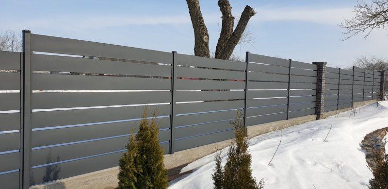 забор горизонтальный юта